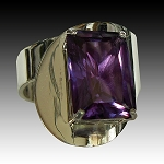 Emerald Cut Alexandrite Modern Ring
