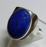 Modern Ring with Oval Lapis