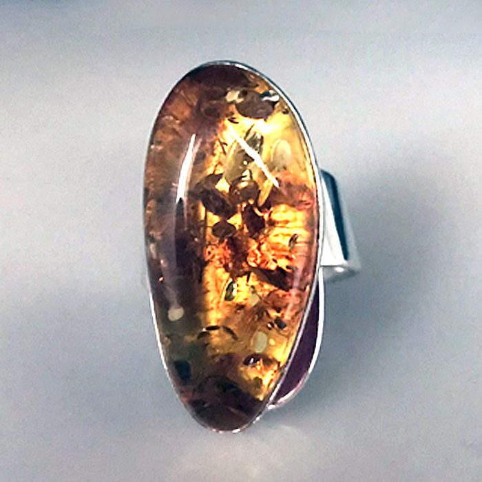 Baltic Amber Sculptural Ring