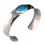 Turquoise Narrow Cuff Bracelet (BR-102)