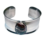 Poppy Jasper Medium Wide Cuff Bracelet