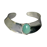 Turquoise Modernist Cuff Bracelet (BR-6B)