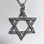 Filigree Star of David Necklace - Large