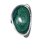 Malachite Sculptural Ring