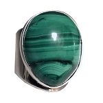 Malachite Modernist Ring (RM-25)