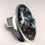 Sculptural Multicolor Agate Ring