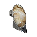Sculptural Agate Ring