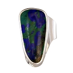 Freeform Azurite Modern Ring