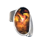 Baltic Amber Modernist Ring