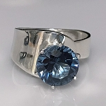 London Blue Topaz Modernist Ring