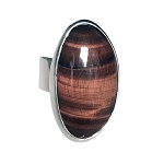 Sculptural Red Tiger Eye Ring (RM-64L)