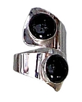 Two Black Onyx Modernist Ring (RM-76)
