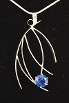 Blue Topaz Curves Necklace