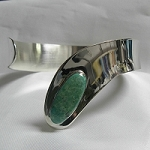 Modernist Cuff Bracelet with Turquoise