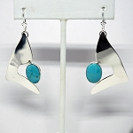 Turquoise Dangle Earrings (E-310)
