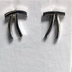 Silver Curves Post Earrings