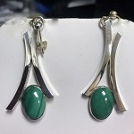 Malachite Dangle Earrings (E-7)