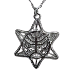 Filigree Star of David with Menorah Necklace