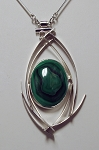 Malachite Curves Necklace