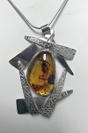 Baltic Amber Texture Necklace