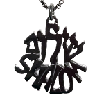 Shalom in Hebrew and English Necklace