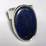 Modernist Ring with Freeform Lapis