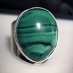 Malachite Modernist Ring
