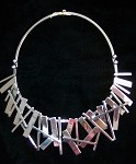 Modernist Silver Sticks Collar