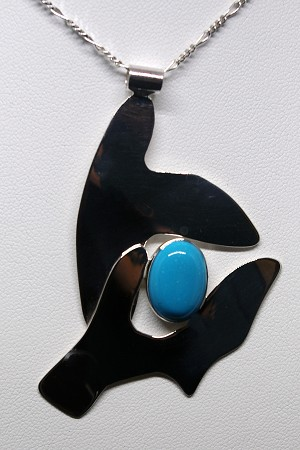 Turquoise Picasso Inspired Necklace