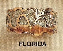 Florida Modernist Gold Ring