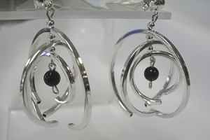 Black Onyx Mobile Dangle Earrings