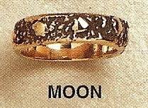 Moon Modernist Gold Ring