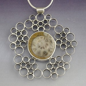 Ammonoid Fossil Bubble Necklace