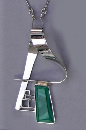 Malachite Picasso Inspired Necklace
