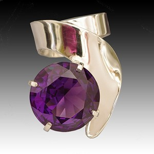 Alexandrite Modern Statement Ring