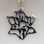 Chai, Shalom, Mazel Star Shape Necklace